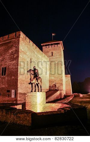 Castle in Gyula at night