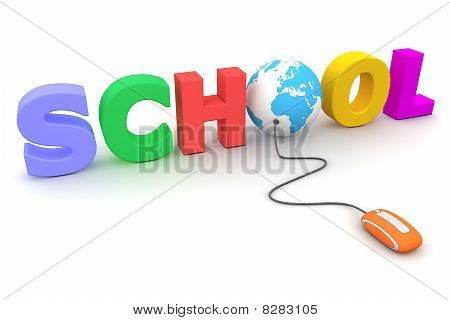 Browse The Colourful School - Blue Globe