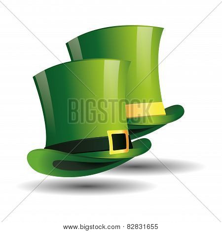 a pair of traditional hats for patrick's day