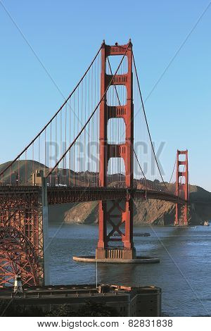 A view of the Golden Gate bridge