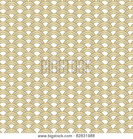 Golden gradient fish scale background.