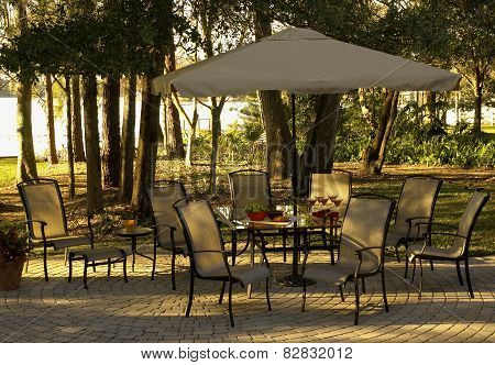 Lakeside patio