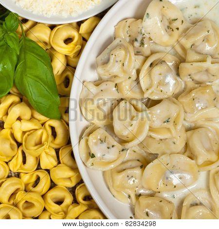 Creamy Cheese & Basil Tortellini