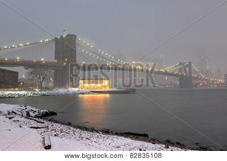 Manhattan Skyline, Snowstorm
