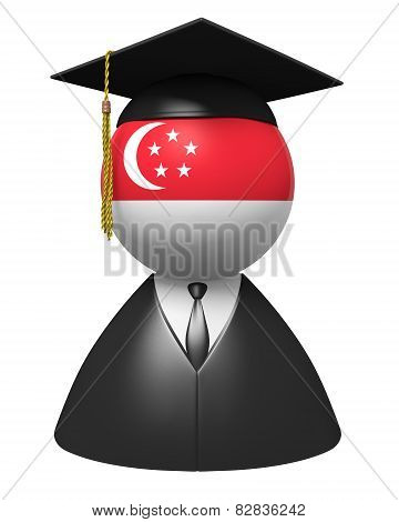 Singapore college graduate concept for schools and academic education