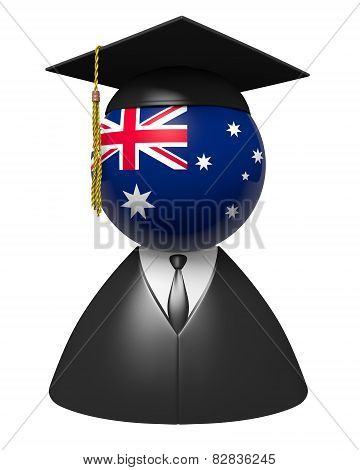 Australia college graduate concept for schools and academic education