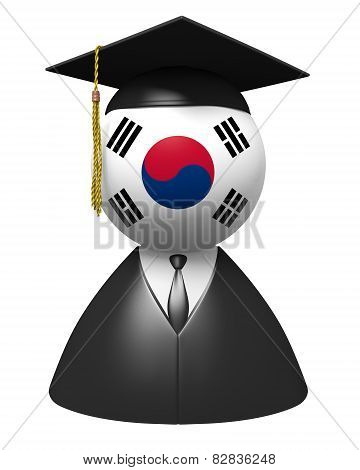 South Korea college graduate concept for schools and academic education