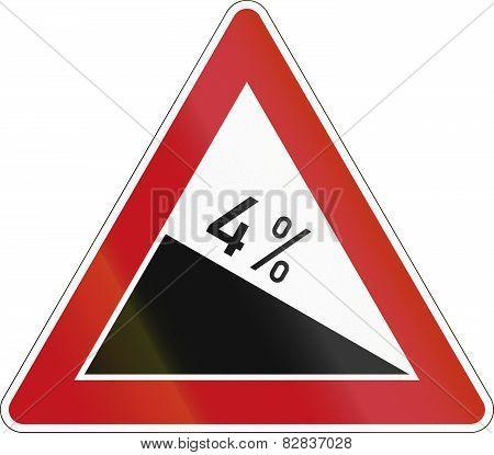 Decline 4 Percent