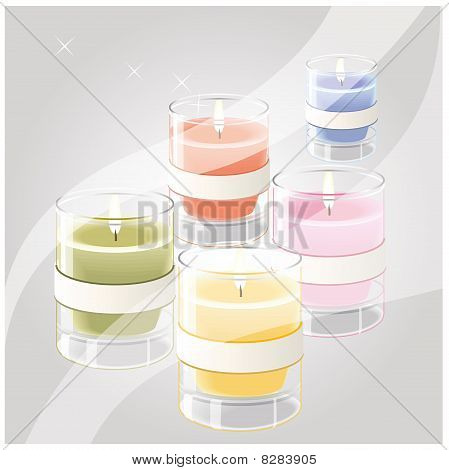 Five Color Candles