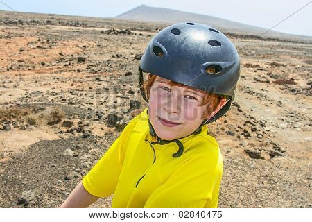 Boy Riding His Mountainbike Offroads