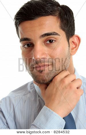 Confident Businessman Thinking
