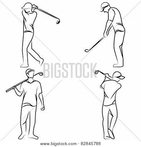 golf player postures