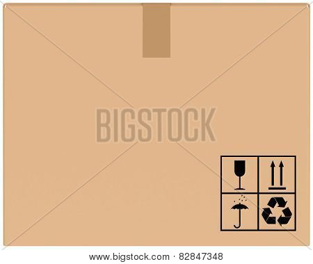 background cardboard boxes with special characters