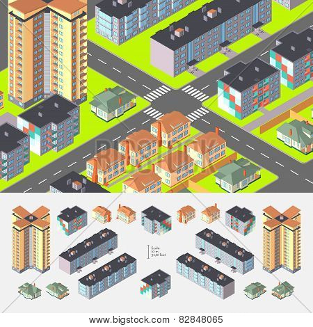 Isometric Dwelling Buildings