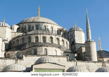 Blue Mosque (Mosque of Sultan Ahmet) in Istanbul, Turkey