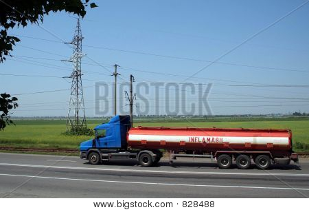 FUEL OR GAS TANKER TRUCK