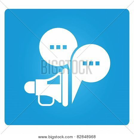 megaphone and bubble speech