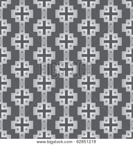 Silver Vintage Plus Symbol And Flower Pattern On Pastel Background