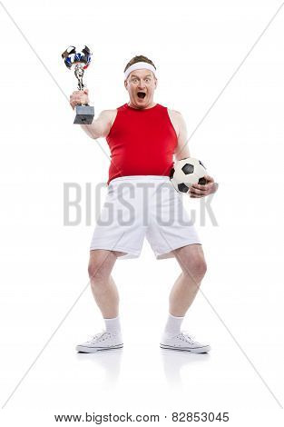 Funny football player