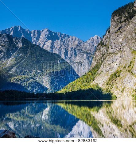 The Beautiful Obersee Lake In Germany