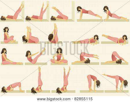 Set of simple gymnastic exercises