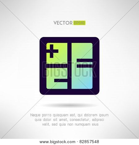 Simple calculator icon im modern design. Accounting business sign. Vector illustration