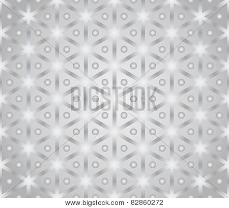 Silver Vintage Hexagon And Circle Pattern On Pastel Color