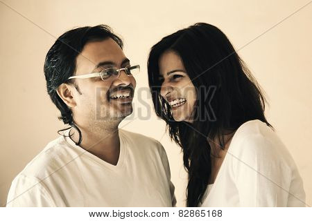Happy moment of Indian Couple