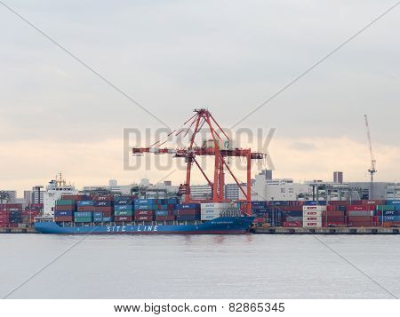 Loading Of The Ship In The Port