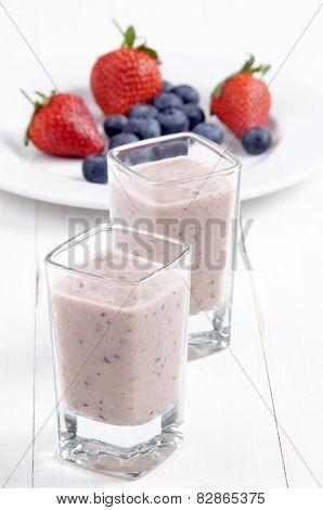 Fruit Smoothie In A Shot Glass
