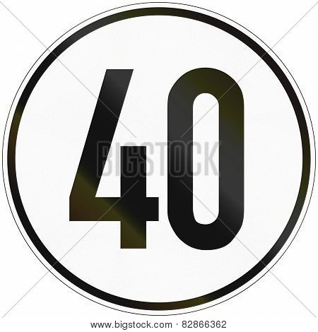 Speed Sign 40