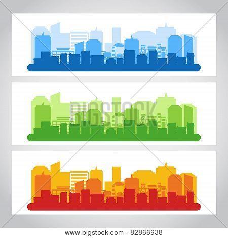 Landscape City Banner Color