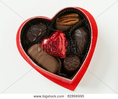 Heart with Chocolate Candy
