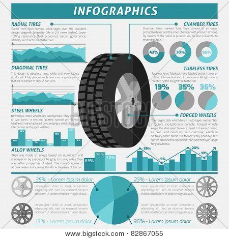 Tire Infographic Set