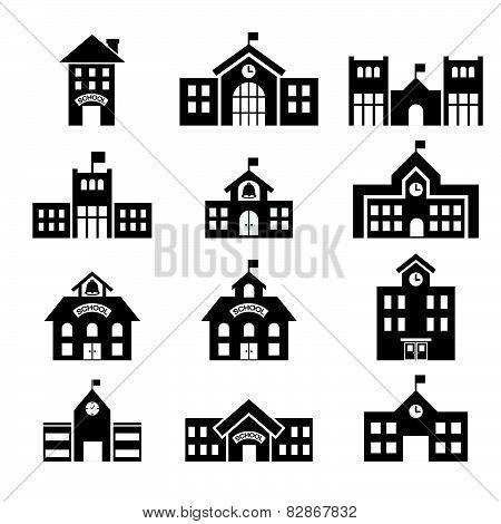 411School Building Icon