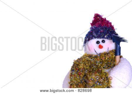 Bright-eyed snowman