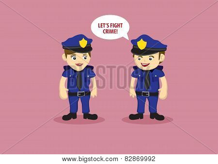 Uniformed Police Officers As Crime Fighters
