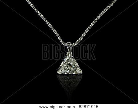 Trilliant Diamond Pendant
