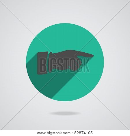 Hand Finger Icon. Button For Web. Vector