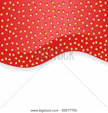 Strawberry jam on white seamless background texture. Romantic decoration.