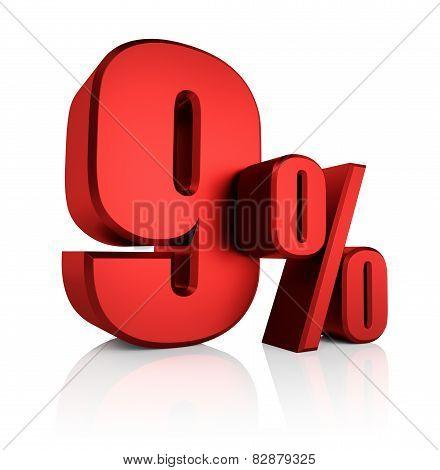 Red 9 Percent