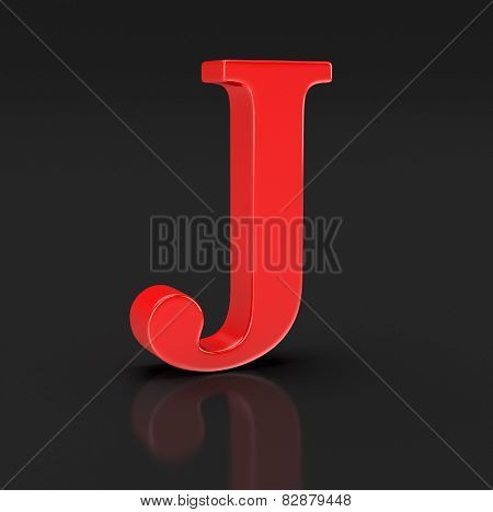 Letter j (clipping path included)