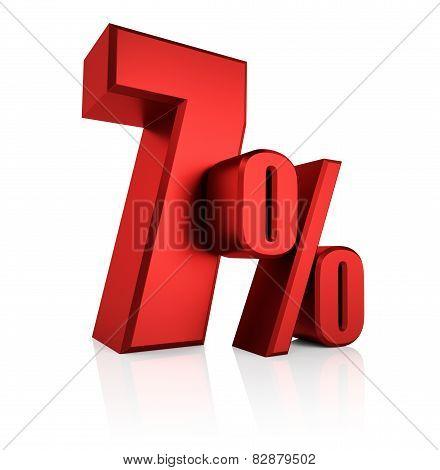 Red 7 Percent