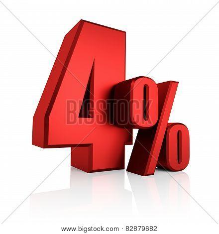 Red 4 Percent
