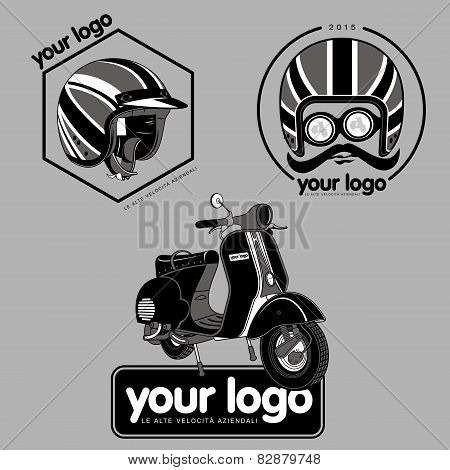 Scooter. Yourlogo. 01