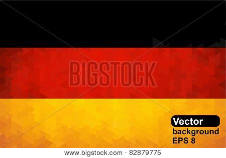 Abstract geometrical pattern in colors of German flag