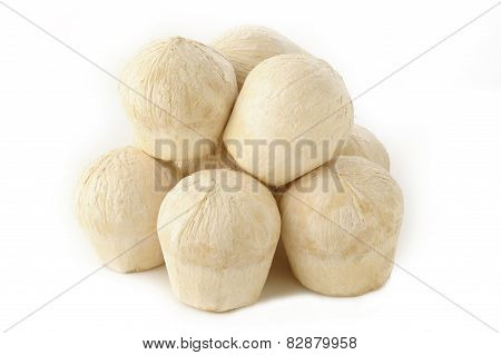 Young Coconut  On White Background