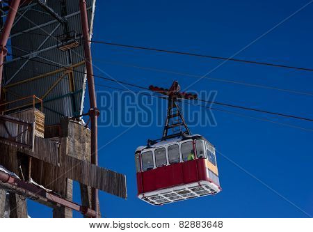 Old Pendulum Cableway For Transport Of People