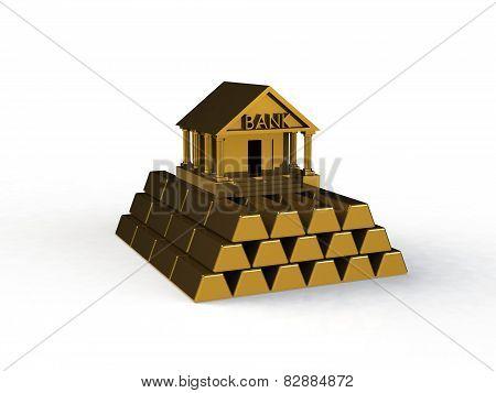 Bank 3d icon