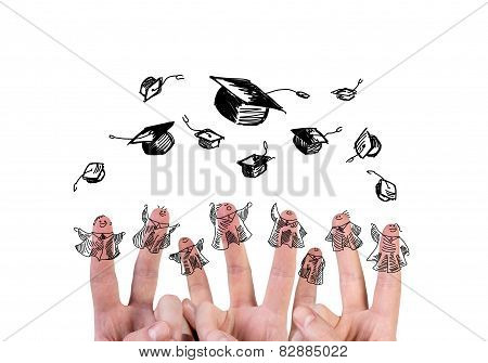 Finger  With Bachelor Hat